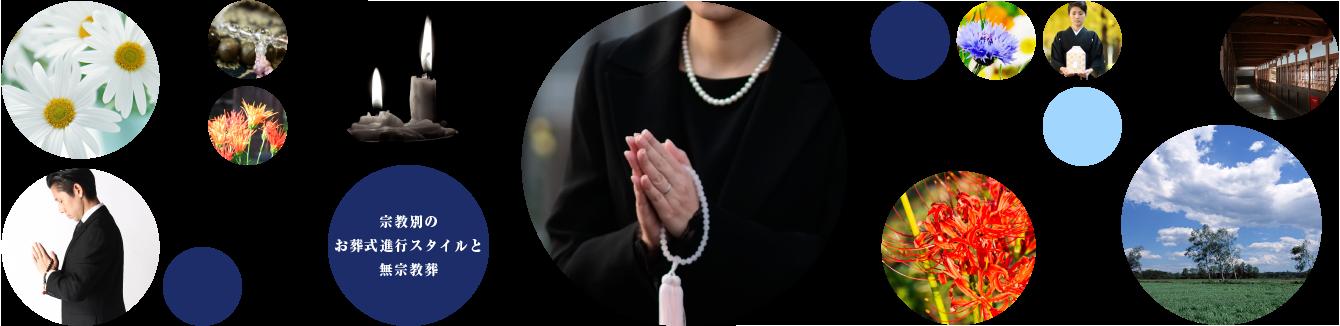 宗教別で説明する、お葬式進行スタイル